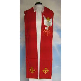 Stuła z Duchem Świętym - czerwona haftowana (1)