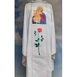 Ornat haftowany - Królowa Przenajdroższej Krwi Jezusa