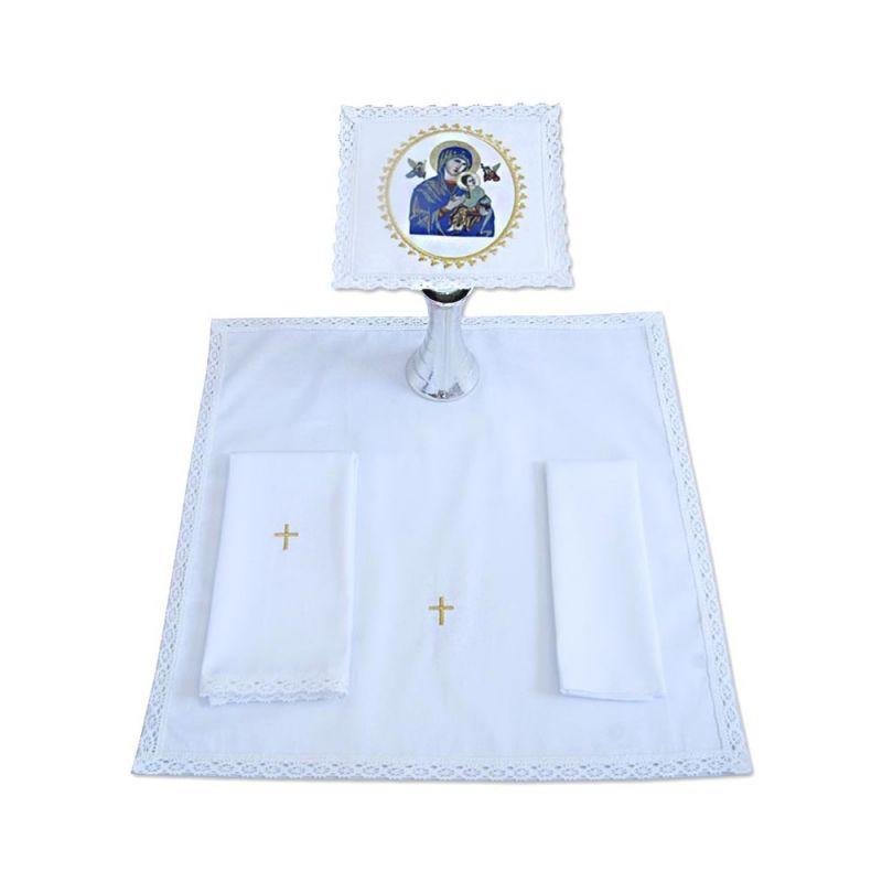 Bielizna kielichowa haftowana - Matka Boża Nieustającej Pomocy