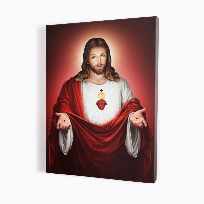 Obraz Serce Jezusa - płótno canvas (40)