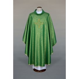 Ornat zielony haftowany - krzyż (18)