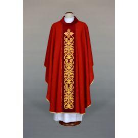 Ornat czerwony haftowany - krzyż, ornament (19)