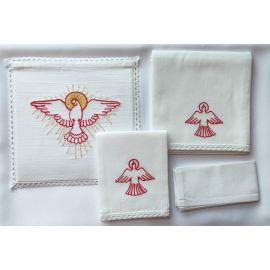 Bielizna kielichowa - Duch Święty czerwony haft