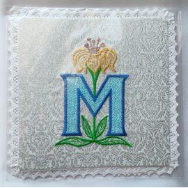 Palka haftowana wzór maryjny M (4)