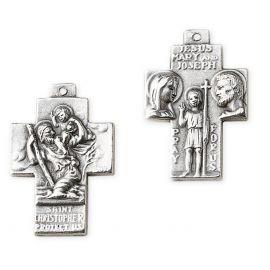 Krzyżyk metalowy św. Krzysztof