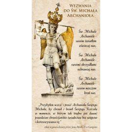 Obrazek z modlitwą Michał Archanioł