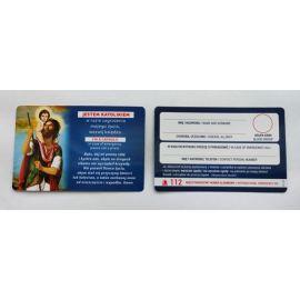 Karta kierowcy z modlitwą