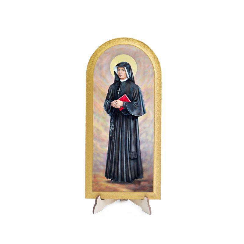 Święta Faustyna - Ołtarz ze szczyrku - Obraz półokrągły