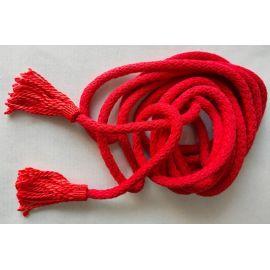 Cingulum bawełniane czerwone (sznur do alby)