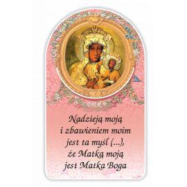 Zakładka papierowa półokrągła - Matka Boża Częstochowska