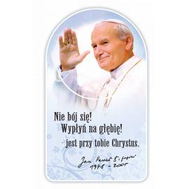 Zakładka papierowa półokrągła - Święty Jan Paweł II