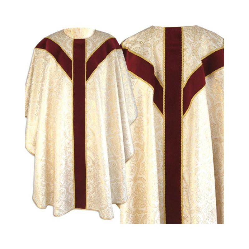 Ornat semi gotycki - złote wzory (74)