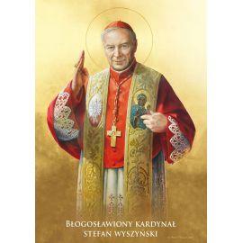 Kardynał Stefan Wyszyński - Ikona dwustronna z modlitwą format A5
