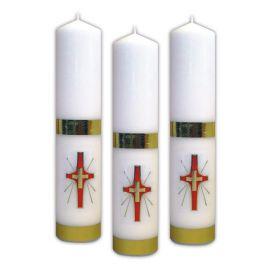 Świeca liturgiczna z naklejką - Krzyż
