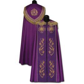 Kapa fioletowa haftowana ręcznie