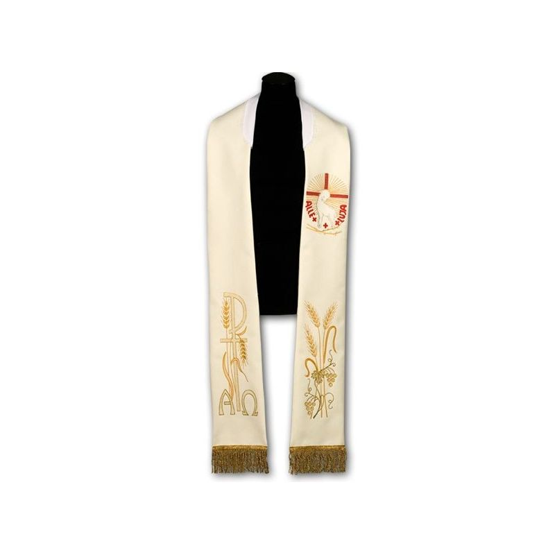 Stuła kapłańska wielkanocna - haftowana (218)