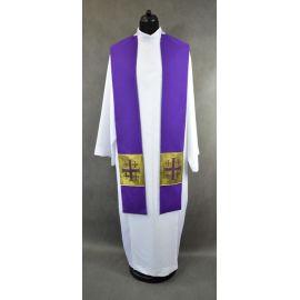 Stuła fioletowa z krzyżami