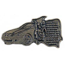 Plakietka metalowa z modlitwą kierowcy - Mercedes