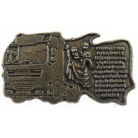 Plakietka metalowa z modlitwą kierowcy - Tir