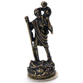 Metalowa figurka Świętego Krzysztofa