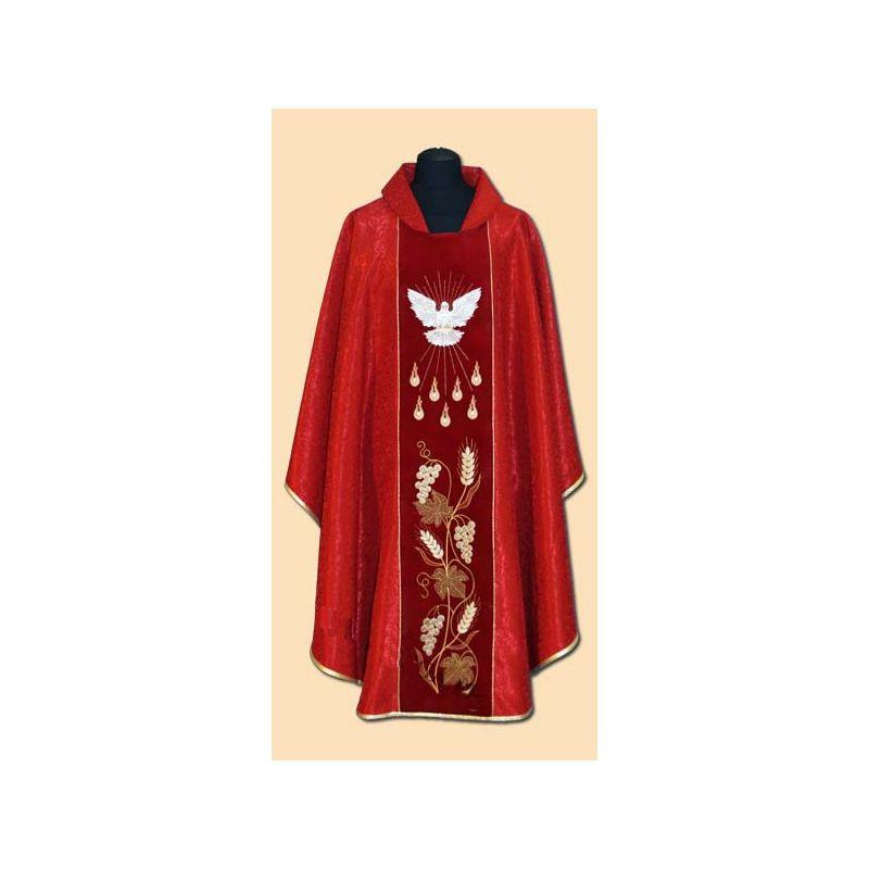 Ornat z Duchem Świętym adamaszek - bierzmowanie (09A)