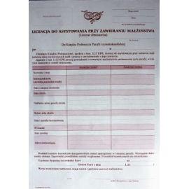 Licencja do asystowania przy zawarciu małżeństwa