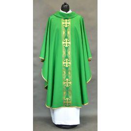 Ornat pas z krzyżami - zielony