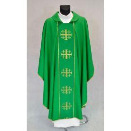 Ornat krzyże jerozolimskie - zielony