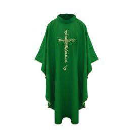 Ornat krzyż ciernie - zielony