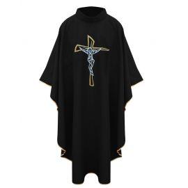 Ornat z krzyżem - czarny