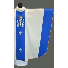 Ornat Maryjny haftowany pas - kolor ecru (2)