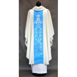 Ornat Maryjny haftowany pas - kolor ecru (1)
