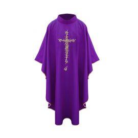 Ornat krzyż ciernie - fioletowy