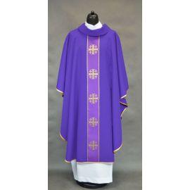 Ornat z krzyżami jerozolimskimi - fioletowy