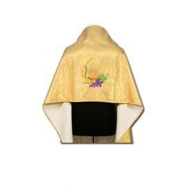 Welon haftowany - tkanina brokatowa (2)