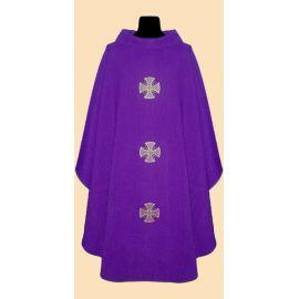 Ornat z lnu - kolory liturgiczne krzyż