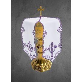 Sukienka na puszkę motyw Krzyż fiolet