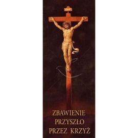 Baner Wielkanocny - Zbawienie przyszło przez krzyż
