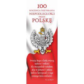 Baner - 100 rocznica odzyskania niepodległości przez Polskę