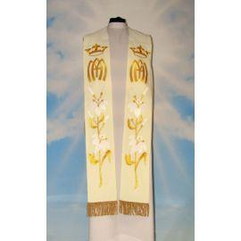 Stuła Maryjna złoty haft