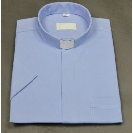 Koszula kapłańska niebieska
