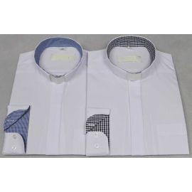 Koszula kapłańska- biała, wstawki