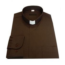 Koszula kapłańska - brąz