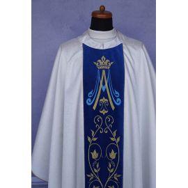 Ornat Maryjny - aksamitne  haftowane pasy (1)