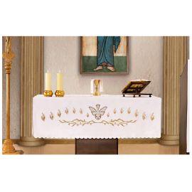 Obrus ołtarzowy - haftowany symbol Ducha Świętego (2)