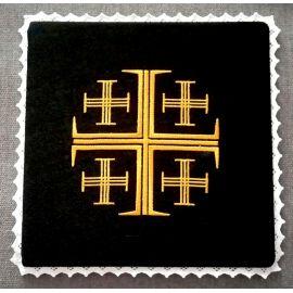 Palka czarna Krzyż Jerozolimski