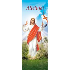 """Baner na Wielkanoc """"Alleluja!"""" - błękitny (10)"""