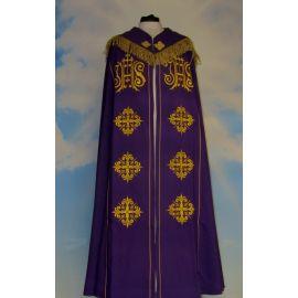 Kapa haftowana - IHS (kolory liturgiczne)