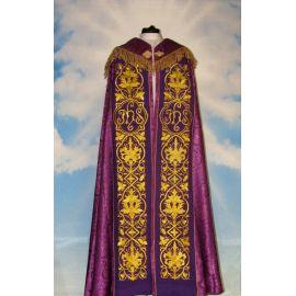 Kapa haftowana - IHS  (kolory liturgiczne) - rozeta (1)