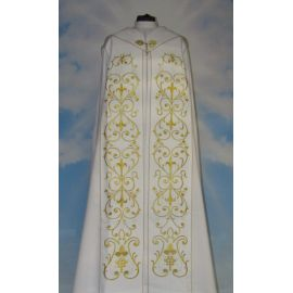 Kapa haftowana biała - ornament (4)